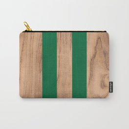 Wood Grain Stripes - Green #319 Carry-All Pouch