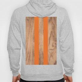 Wood Grain Stripes - Orange #840 Hoody
