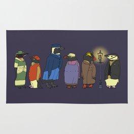 Victorian Penguins Rug