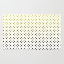 Gray and yellow dots Rug