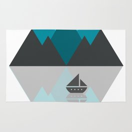 Blue Triangle Mountains Rug