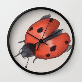 Prepare for takeoff ladybirds Wall Clock