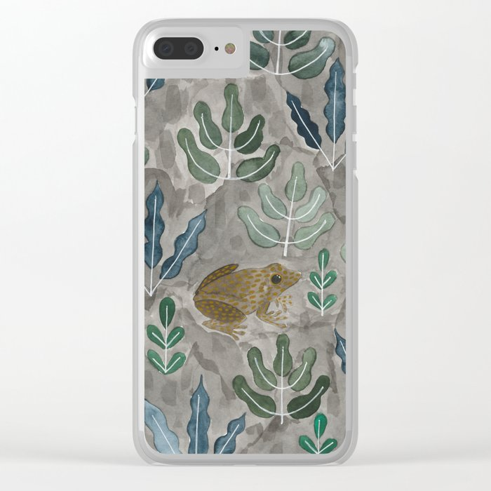 Save the frogs! Clear iPhone Case