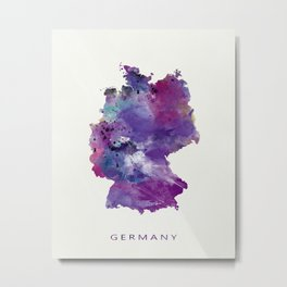 Germany Map Metal Print