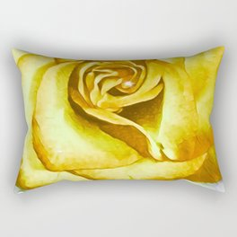 Glowing Canary Rose Rectangular Pillow