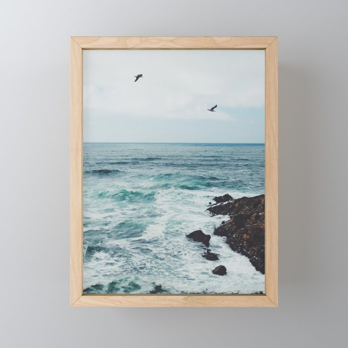 Sea Blue Framed Mini Art Print