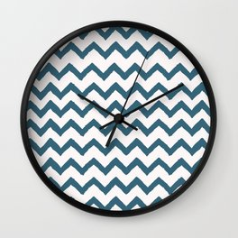 Chevron Teal Wall Clock