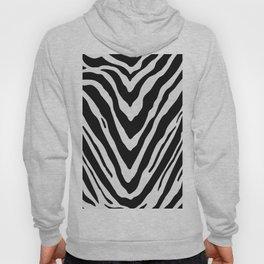 Zebra Stripes in Black and White Hoody
