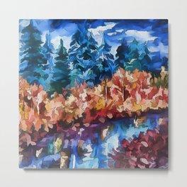 Fall in Rockies Metal Print