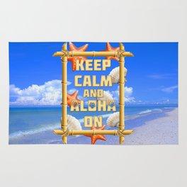 Keep Calm And Aloha On Rug