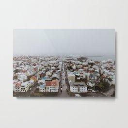 Reykjavík Metal Print