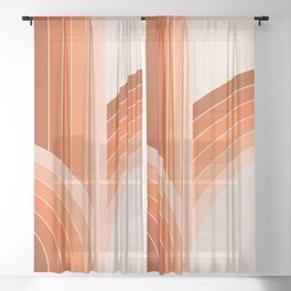 Red Rock Bounce Sheer Curtain