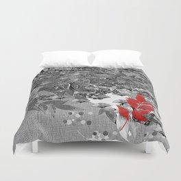 The red leaf Duvet Cover