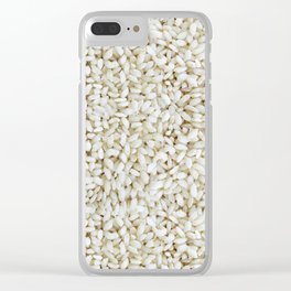 Rice pattern Clear iPhone Case