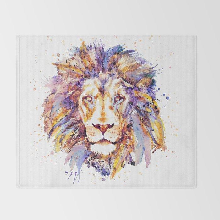 Lion Head Throw Blanket