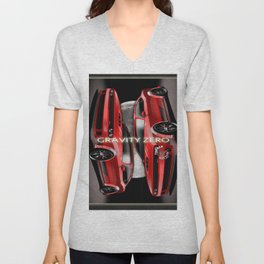 Supercars Collections - Dodge Challenger Zero Gravity Unisex V-Neck