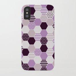 hexagon purple iPhone Case