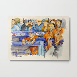 AJ Hinch  – Astros Manager Metal Print
