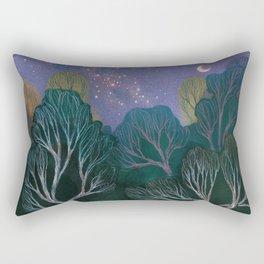 Starlit Woods Rectangular Pillow
