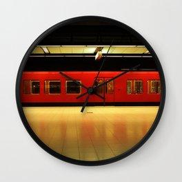 Metro in Helsinki Wall Clock