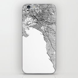 Melbourne White Map iPhone Skin