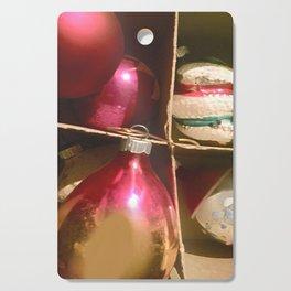 Christmas Cardboard Window #Christmas #vintage #society6 Cutting Board