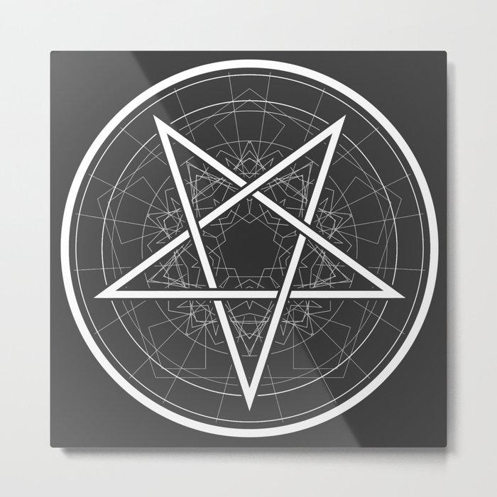 Baphomet Pentagram Star - Satanic sign Metal Print
