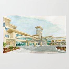 Watercolor Warwick World Headquarters Rug