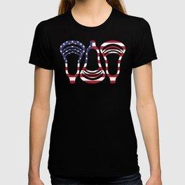 Lacrosse US Flag Head Trio T-shirt
