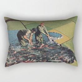 Salmon Farm Rectangular Pillow