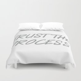 Trust The Process Workout Motivational Design Duvet Cover