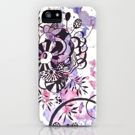 Abstract Flower Watercolor 4 iPhone Case