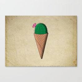 Cactus ice cream Canvas Print