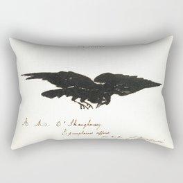 Raven – Le corbeau (ex-libris) Rectangular Pillow