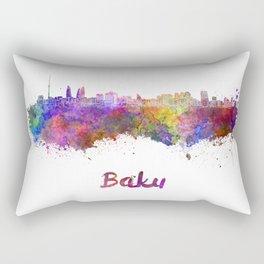 Baku skyline in watercolor Rectangular Pillow