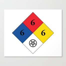 Satanic Hazard 704 Canvas Print