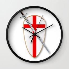 Crusaders Shield and Sword Wall Clock