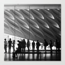 Queueing Canvas Print