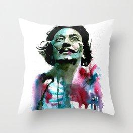 Watercolor Dali Throw Pillow