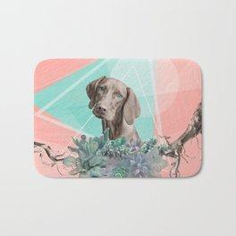Eclectic Geometric Redbone Coonhound Dog Bath Mat