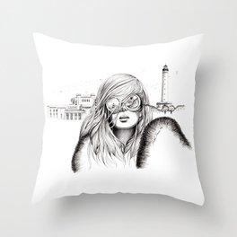 Biarritz Throw Pillow