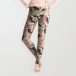 Dachshund dapple coat dog breed floral pattern must have doxie gifts dachsies Leggings
