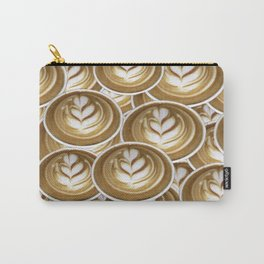 Latte Hearts Carry-All Pouch