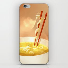 Noodle dragon iPhone Skin