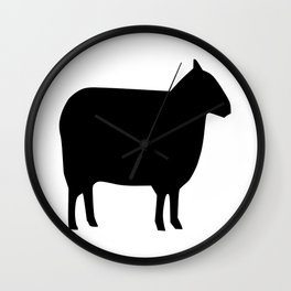 Sheep Silhouette Wall Clock