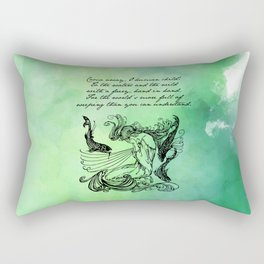 William Butler Yeats - The Stolen Child Rectangular Pillow