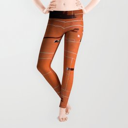 Tennis court orange Leggings