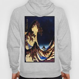 The GREAT Wave Midnight Blue Brown Hoody