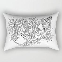 Bombshell Adult Coloring, Pin Up Design, Rectangular Pillow