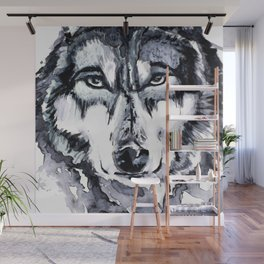 Abstract Wolf - Zoomed Wall Mural
